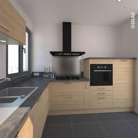 cuisine effet bois cuisine en bois clair structuré stilo noyer blanchi cuisine
