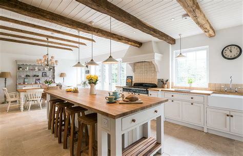 Rustic Ceiling Kitchen Farmhouse With Rustic Farmhouse