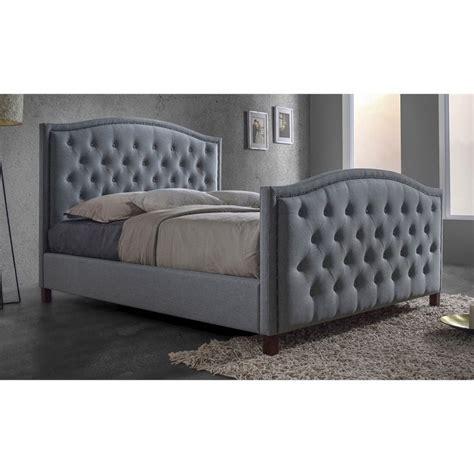 3162 grey upholstered king bed upholstered king platform bed in gray cf8535 king
