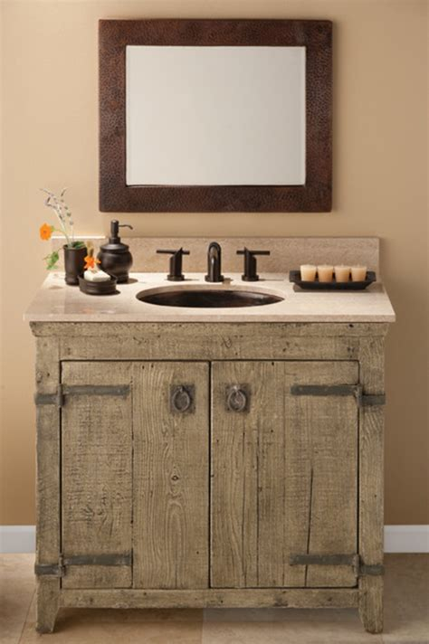 How To Make A Rustic Bathroom Vanity by 33 Stunning Rustic Bathroom Vanity Ideas Remodeling Expense