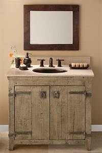 33 Stunning Rustic Bathroom Vanity Ideas - Remodeling Expense