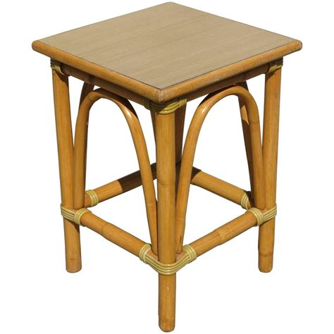 Small Rattan Side Table With Arched Sides For Sale At 1stdibs