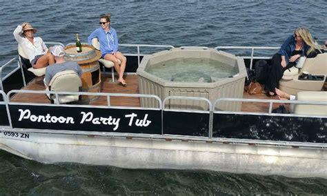Pontoon Boats Newport Beach by Hot Tub Pontoon Boat Charter Pontoon Party Tub