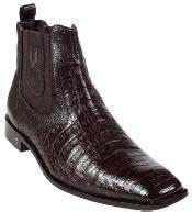 Men Exotic Skin Ankle Short Boots