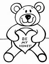 Teddy Bear Coloring Pages Printable sketch template