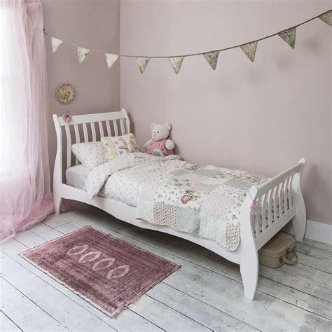 astrid sleigh single bed  white noa nani