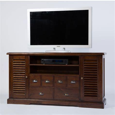 tr 232 s tendance meuble tv colonial 2p 4t en teck