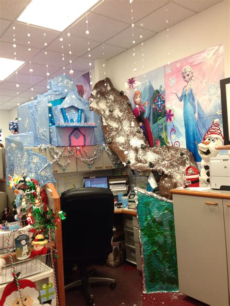 frozen themed christmas cubicle christmas christmas