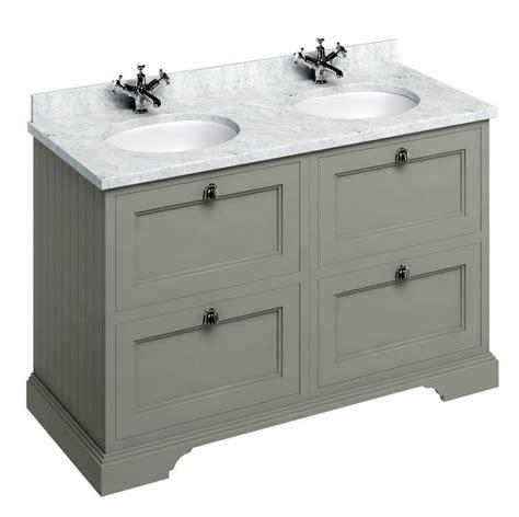 bathroom sink square burlington 130 vanity unit with four drawers uk
