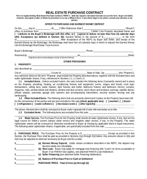 Sample Purchase Contract Form  7+ Free Documents In Pdf, Word