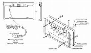 Boyo Vtl300c Black Aluminum License Plate Camera