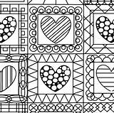 Coloring Pages Quilt Print Printable Getcolorings sketch template