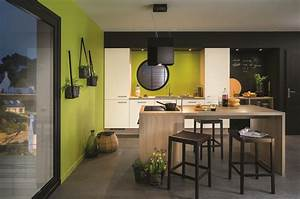 ilot de cuisine et espace de repas 2 en 1 diaporama photo With deco cuisine avec table salle a manger petite dimension