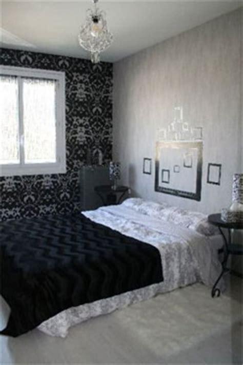 déco chambre baroque noir blanc