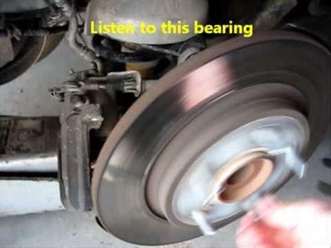 chrysler town country rear wheel bearing noise