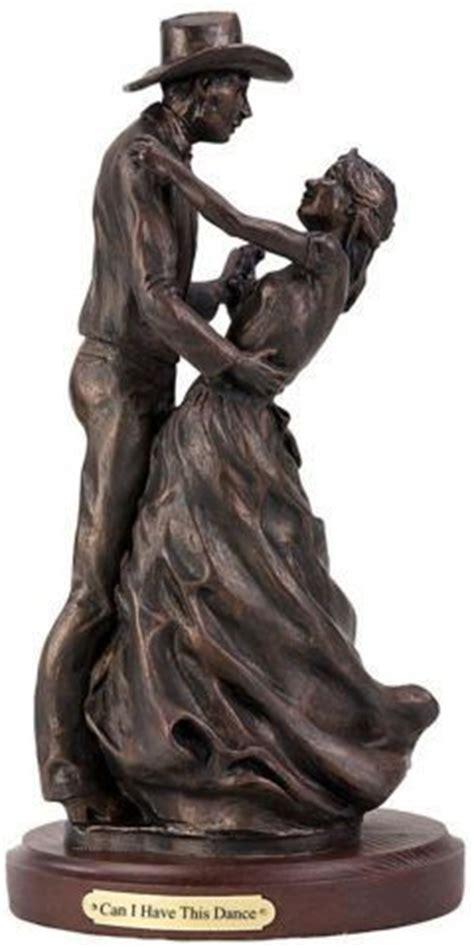 dance romatic western couple sculpture