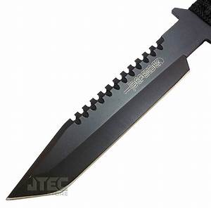 """11"""" Hunting Tactical Combat Camping Survival Knife w/ Fire ..."""