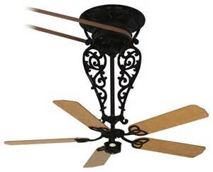 belt driven fan in black mediterranean ceiling fans