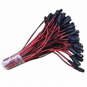 100pcs 12v Dc Power Pigtail Female 5 5 2 1mm Cable Plug