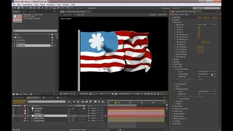 Create A Flowing Flag With After Effects And