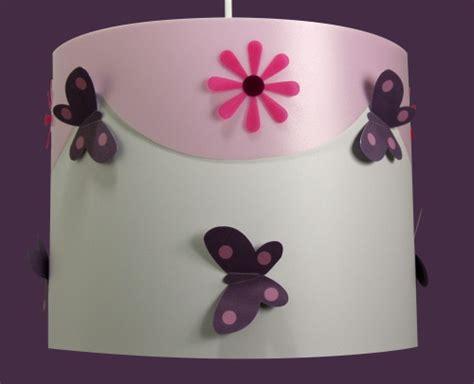 chambre bb fille luminaire enfant papillons violine et fabrique