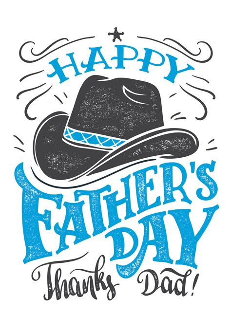 hats  fathers day card   island