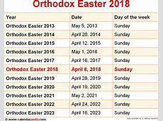 Greek Orthodox Church Calendar 2018 Calendar Template 2018