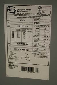 Hammond Nmk075kb Transformer 75 Kva 480v Primary To 208y