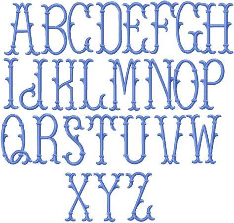 erin monogram font machine embroidery font     center bling sass sparkle