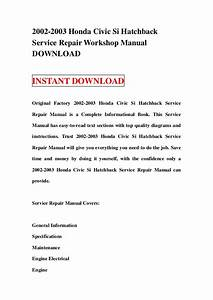 2003 Honda Civic Si Owners Manual Pdf