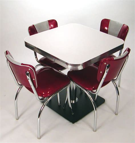 square tables retro style boomerang cracked ice