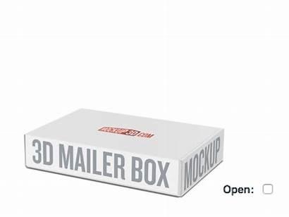 Box Mailer 3d Mockup Dribbble Open Boxes