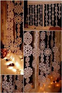 40 Paper Snowflake Garlands for Christmas Decorating