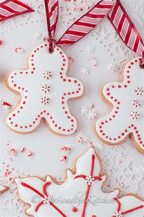 candy cane sugar cookies art   kitchen