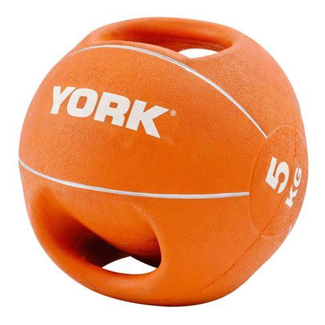 york kg double grip medicine ball