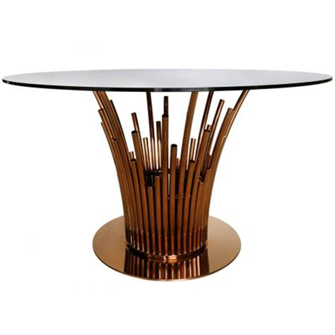 rose gold table l lorent rose gold dining table glass furniture