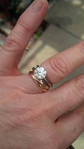 cartier trinity rolling ring as a wedding band With cartier engagement ring and wedding band