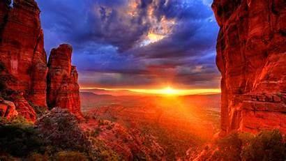 Sunset Arizona Arisona Background Desktop Nice Mountains