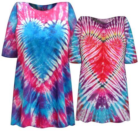 Sale Rainbow Heart Tie Dye Plus Size T Shirt L Xl 2x 3x