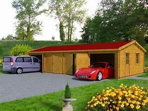 Garage Homologation 5 Places : garage en bois 70m 4 places 600x1173 en paisseur 70mm ce grand garage en bois de 70 m ~ Medecine-chirurgie-esthetiques.com Avis de Voitures