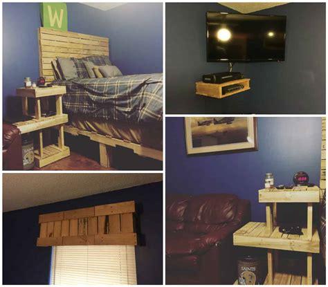 pallet bedroom set  pallets
