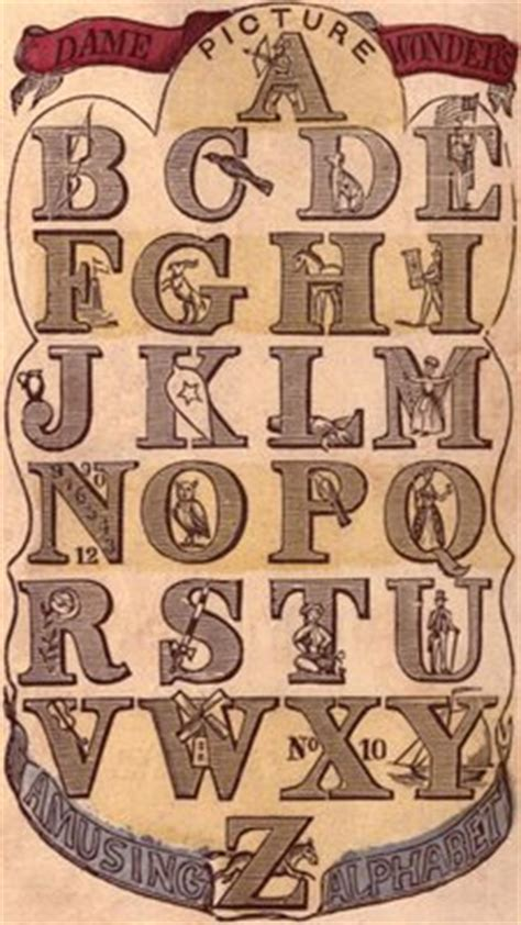victorian graphic early alphabet typography