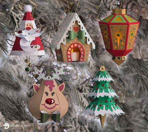 Find professional christmas tree 3d models for any 3d design projects like virtual reality (vr), augmented reality (ar), games, 3d visualization or. Merry Christmas Ornaments SVG Bundle - Dreaming Tree