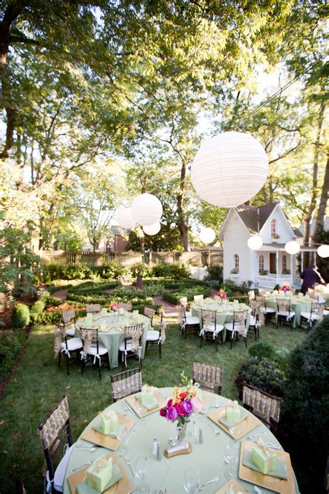 elegant backyard wedding reception elizabeth anne