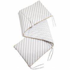 Tour De Lit 60x120 : tour de lit gris patternology pour lits 60x120 et 70x140cm ~ Teatrodelosmanantiales.com Idées de Décoration