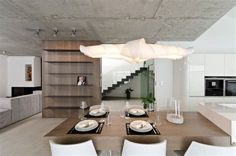 modern concrete interiors contemporary family house with great use of concrete decoholic