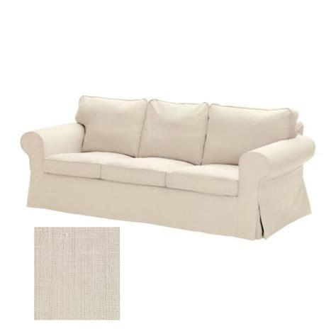 3 Seat Sofa Cover by Ikea Ektorp 3 Seat Sofa Slipcover Cover Svanby Beige Linen