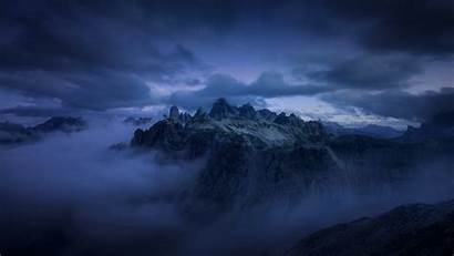 Clouds Dark Cloud Mountains Cliff Fog Wallpapers