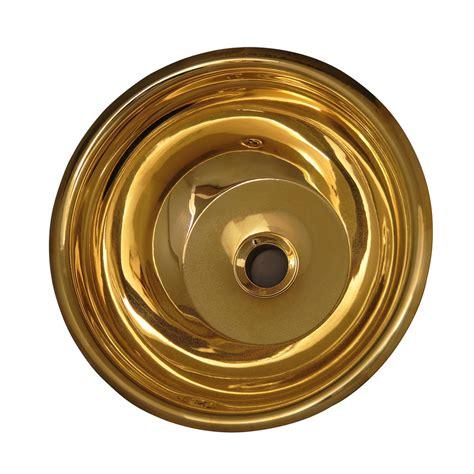 brass bar sink undermount shop barclay polished brass brass undermount round
