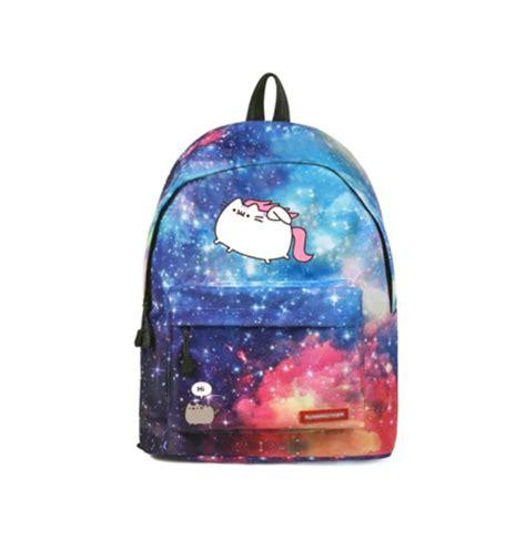 Cartoon Fat cat Backpack Galaxy School Bags Fashion ...